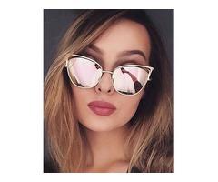 Fashion Reflactive Cat Eye Lens Sunglasses