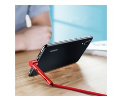 ROCK Type C Bracket Stand Holder Fast Charging Data Cable 1.2M For Oneplus 6 Xiaomi Mi8 Pocophone F1