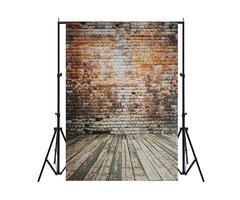 5x7FT Vinyl Retro Brick Wall Floor Background Paper Studio Photography Photo Backdrop Props