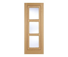 Buy LPD 3L Glazed Oak Internal Doors