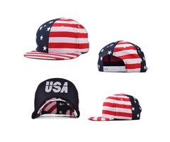 Men Women USA Flag Snapback Caps Adjustable Baseball Cap Hip-hop Hats