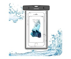 USAMS IPX8 Waterproof Case Touch Screen Luminous Transparent Window Dry Bag for Cell Phone Under 6 i