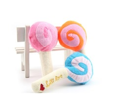 Dog Puppy Chew Toy Squeaky Plush Sound Cute Lollipop Design Squeaking Honking Cachorro Pet Toys Pupp