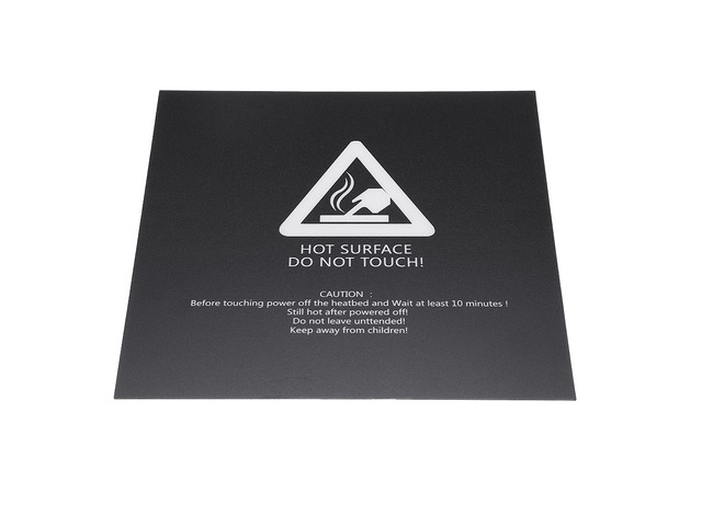 Black 220*220mm Scrub Heated Bed Sticker for 3D Printer Reprap Aluminum Plate | free-classifieds.co.uk