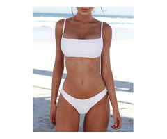 Solid Stretchy Bikini Set Sexy Swimwear | free-classifieds.co.uk