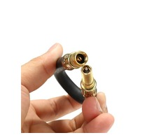 21cm Tyre Valve Extension Flexible Rubber Twin Wheel Adapter Lorry for Van Bus