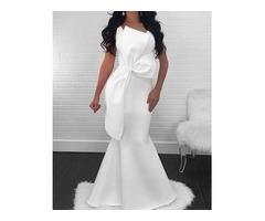 White Sleeveless Shirring Bodycon Maxi Dress
