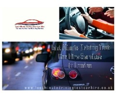 Get the Facility of Last Minute Driving Test Car Hire