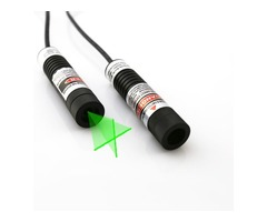 Berlinlasers 5mW 532nm Green Cross Line Laser Module