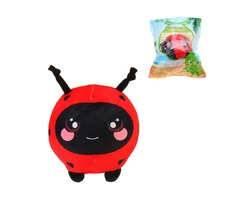 "3.5"" Squishamals Foamed Stuffed Beetle Squishimal Toy Slow Rising Plush Squishy Toy Pendant"