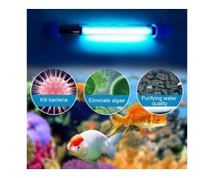 Aquarium UVC Sterilizer Lamp Light Submersible UVC Germicidal Disinfection Lamp Waterproof Fish Tank