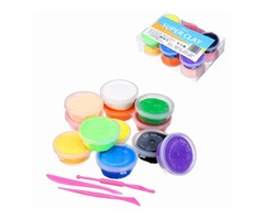 12PCS/Lot Candyfloss Fluffy Floam Slime Clay Putty Stress Relieve Kids Gag Toy Gift With Box Packing