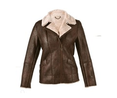 Shabby Chic BROWN SHEEPSKIN JACKET