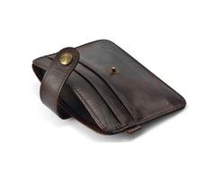 Retro Mini wallets hasp small purse Genuine leather purse