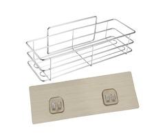 Stainless Steel Bathroom Shower Kitchen Storage Shelf Rack Organizer Wall Mounted Holder
