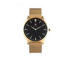 Buy Online Classic Black and Gold Mesh Watches