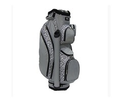 RJ Sports Lb-960 Ladies Cart Bag with 3pk Head Covers, Leopard/Grey, 9?