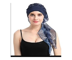 Chemo Hats Hair Loss Wig Accessory Scarf Bamboo Turban Headwraps Snug Headwear For Cancer