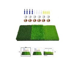 DACTECH 3 in 1 kit Portable Tri-fold Golf Hitting Practice Mat