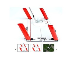 EyeLine Golf Speed Trap – Unbreakable Base, Red Speed Rods and Carry Bag
