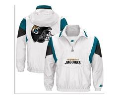 NFL Jacksonville Jaguars Men's Starter White Thursday Night Lights Breakaway Jacket