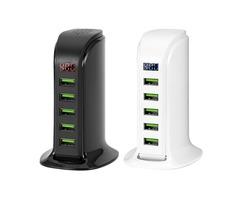 Bakeey 5 Ports Multi EU Plug USB Charger HUB LED Display USB Charging Station Dock