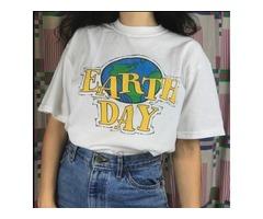 EARTH DAY 90S AESTHETIC WOMEN GIRL'S T SHIRT