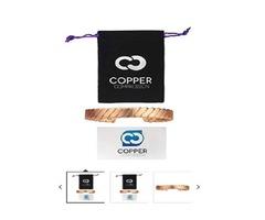 Copper Compression Twisted Copper Bracelet for Arthritis