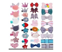 32Pcs Snap Hair Clips Lovely Metal Baby Hair Clip Barrettes For Girls Toddlers Kids Hair Accessories