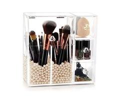 Hblife Makeup Brush Holder, Acrylic Makeup Organizer With 2 Brush