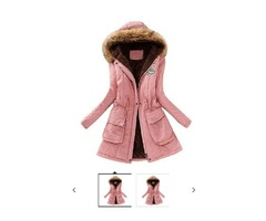 haoricu Women Coat, Fall Women Fashion Warm Elegant Long Coat Hooded Jacket Winter Parka Outwear