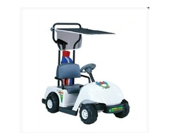 Kid Motorz Junior 6V Pro Golf Cart Ride-On, White