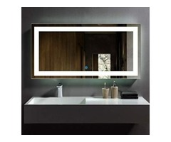 DP Home LED Lighted Rectangle Bathroom Mirror, Modern Wall Mirror With Lights,