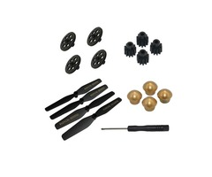 VISUO XS812 GPS RC Quadcopter Spare Parts Crash Pack Propeller  Gear  Tooth Wheel  Props Nut