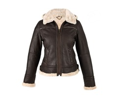 BLACK HOODED FUR COLLAR WOMENS LEATHER JACKET