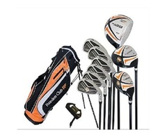 Founders Club The Judge Mens Complete Golf Club Package Set for Men with Graphite and Steel and Stan