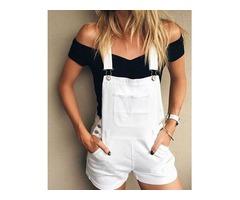 SSolid Pocket Button Suspender Shorts | FreeAds.info