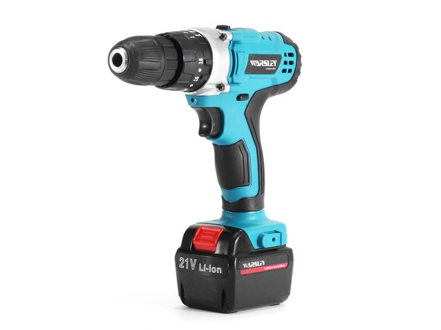 21V Cordless Power Impact Drill Rechargeable 2 Speed Electric Screwdriver Driver with 2 Batteries | FreeAds.info