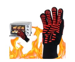 BBQ Grill Glove 500℃ Extreme Heat Resistant Gloves Cooking Baking Gloves Camping Picnic | FreeAds.info