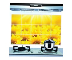 45*70cm Removable Sunflower Oil-proof Wall Sticker Kitchen Waterproof Wall Decals Home Decor