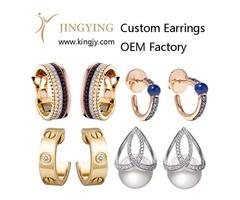 OEM Jewelry manufacturer 925 sterling silver earrings