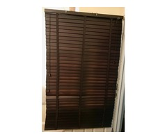 Dark Mahogany Wooden Blinds