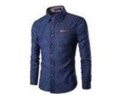 NEW FASHION BRAND MEN SHIRT DENIM SHIRT DRESS SHIRT
