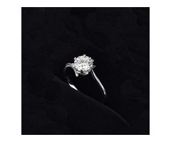 Luxury Solitaire 2.0ct Original 18K Rose Gold Zirconia Diamond Ring
