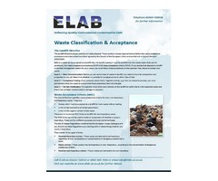 WAC - Waste Acceptance Procedures and Criteria- ELAB