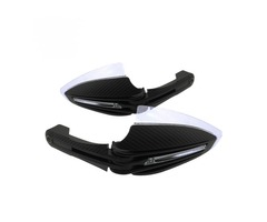 Pair 20mm Universal Motorcycle Handguard With LED White Yellow Turning lights