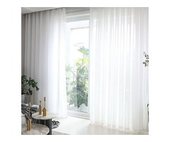Buy  Soft Breeze White Sheer Curtains-Voila Voile
