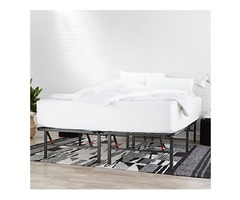 Metal Platform Bed Frame with Tool-Free Assembly