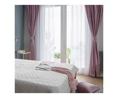 Shop Velvet Microfiber Voile Curtains Online-Voila Voile