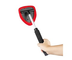 Microfiber Car Wash Cleaning Brushes Telescopic Handle Cleaning Extendable Tool X2 Head Pad